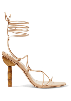 Cult Gaia - Soleil Leather Sandals - Beige