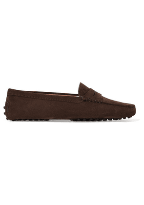 Tod's - Gommino Suede Loafers - Brown