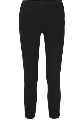 L'Agence - Margot Cropped High-rise Skinny Jeans - Black