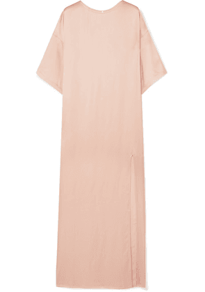 Paul & Joe - Satin Maxi Dress - Pastel pink