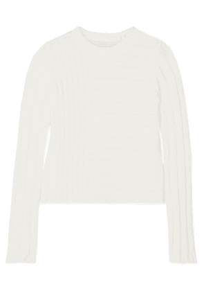 Vince - Ribbed Cotton-blend Sweater - White