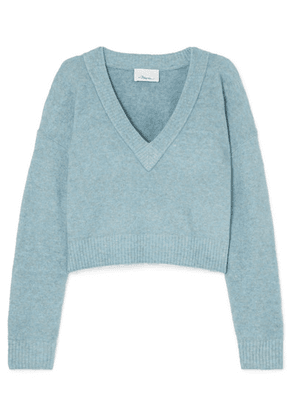 3.1 Phillip Lim - Cropped Knitted Sweater - Sky blue