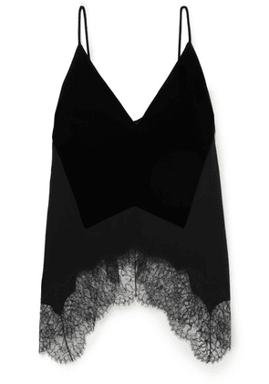 Givenchy - Velvet, Crepe And Lace Camisole - Black