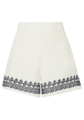 J.Crew - Embroidered Linen Shorts - Ivory
