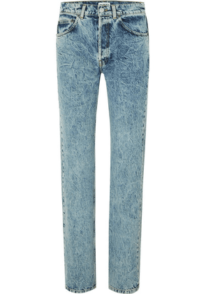 Balenciaga - Faded High-rise Straight-leg Jeans - Light blue
