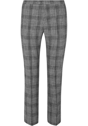 Isabel Marant - Derys Checked Cotton And Wool-blend Straight-leg Pants - Dark gray