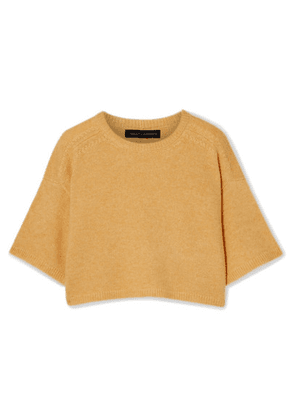 Sally LaPointe - Cropped Cashmere And Silk-blend Sweater - Yellow