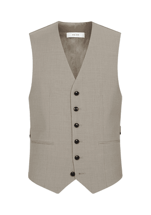 Reiss Wander - Modern Fit Travel Waistcoat in Champagne, Mens, Size 36