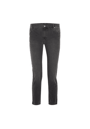 57a464f7 Isabel Marant Ulyff Crystal-embellished High-rise Slim-leg Jeans Woman Dark  gray