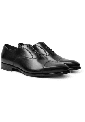 Dunhill - Elegant City Leather Oxford Shoes - Black