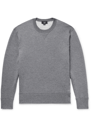 Dunhill - Loopback Wool And Cashmere-blend Sweatshirt - Anthracite