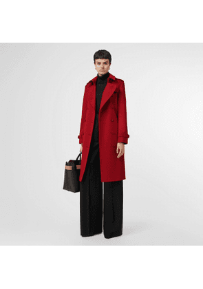 Burberry Cashmere Trench Coat, Size: 10, Red