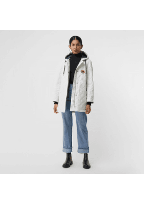 Burberry Diamond Quilted Oversized Hooded Parka, Size: XS, White