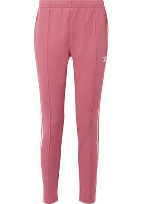 adidas Originals - Sst Striped Jersey Track Pants - Pink