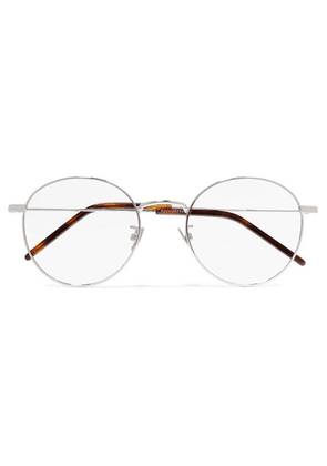 SAINT LAURENT - Round-frame Silver-tone Optical Glasses - one size