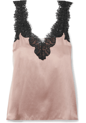 Cami NYC - The Leia Lace-trimmed Silk-charmeuse Camisole - Antique rose