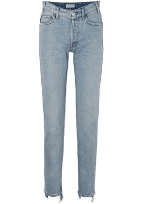 Balenciaga - Distressed High-rise Straight-leg Jeans - Blue