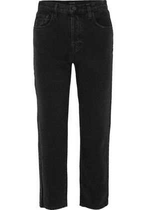 J Brand - Wynne High-rise Cropped Straight-leg Jeans - Black