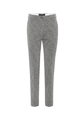 Cropped high-rise straight pants