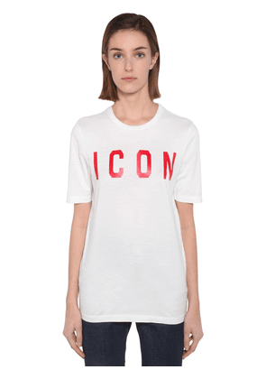 Printed Icon Cotton Jersey T-shirt