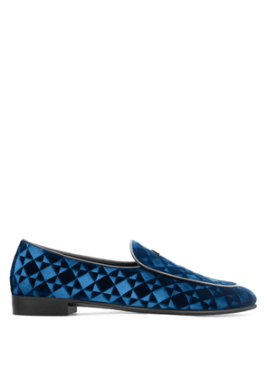 Giuseppe Zanotti - Velvet 'G-Flash' loafer G-FLASH