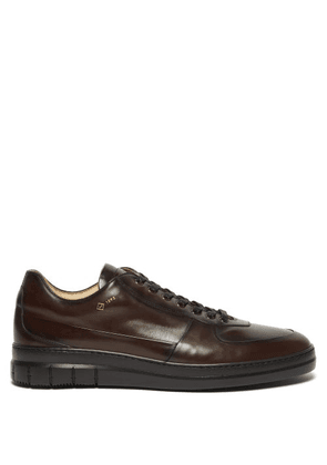 Dunhill - Duke City Leather Low Top Trainers - Mens - Dark Brown