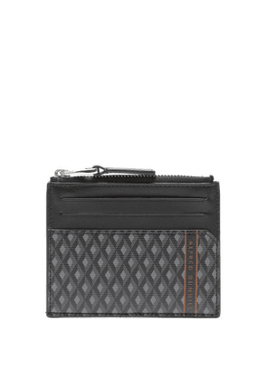 Dunhill - Engine Turn Zipped Leather Cardholder - Mens - Grey