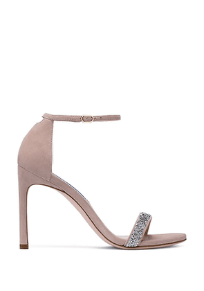 Stuart Weitzman - The Nudistsong Sandal In Dolce Taupe - Size 38.5