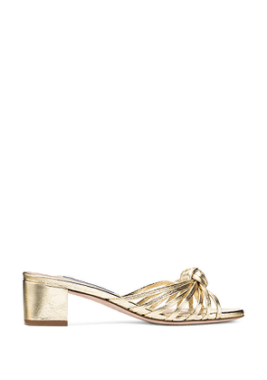 Stuart Weitzman - The Sidney Sandal In Gold - Size 40