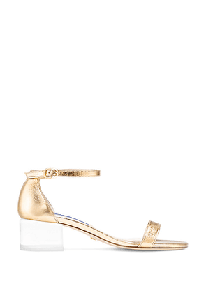Stuart Weitzman - The Simple Lucite Sandal In Gold - Size 41