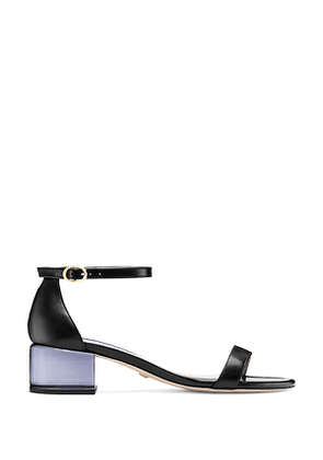 Stuart Weitzman - The Simple Lucite Sandal In Black - Size 41