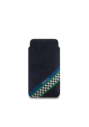 Mulberry iPhone X/XS Cover in Midnight Racing Stripes