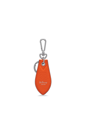 Mulberry Leather Tab Keying in Mandarin Orange Heavy Grain
