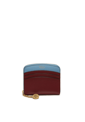 Mulberry Curved Small Zip Around Wallet in Crimson Small Classic Grain