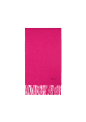 Mulberry Small Solid Lambswool Scarf in Fuchsia Lambswool