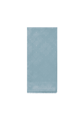 Mulberry Tree Rectangular Scarf in Cloudy Grey Silk Cotton