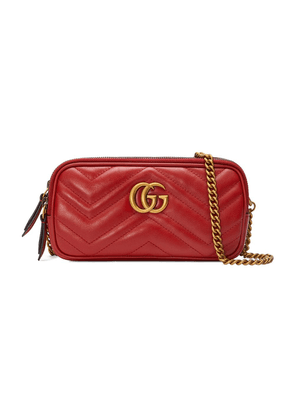 Gg Marmont Leather Pochette