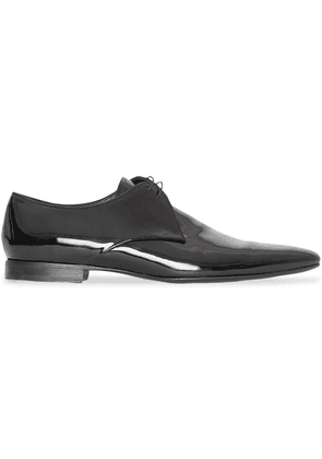Burberry Polished Leather Lace-up Shoes - Black