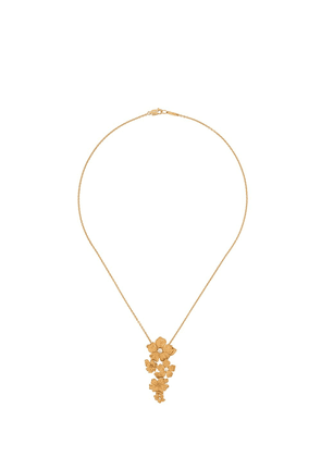 Carrera 18kt yellow gold floral diamond necklace