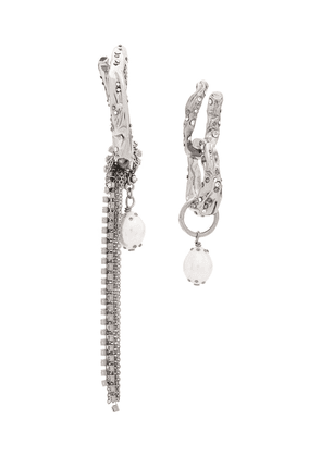 Givenchy pendant crystal encrusted earrings - Silver