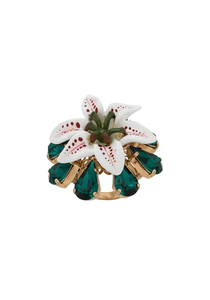 Dolce & Gabbana floral ring - White