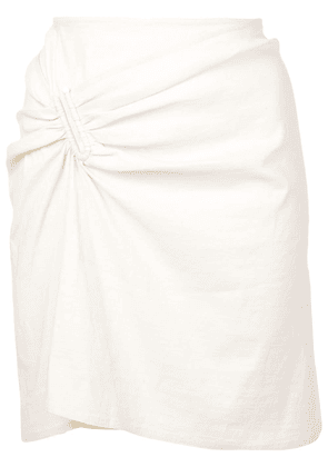 A.L.C. fitted mini skirt - White