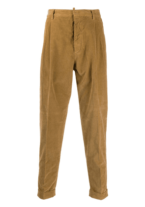 Dsquared2 corduroy tapered trousers - Brown