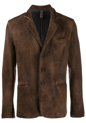 Avant Toi buttoned front blazer - Brown
