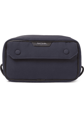 Paul Smith - Leather-trimmed Shell Wash Bag - Navy