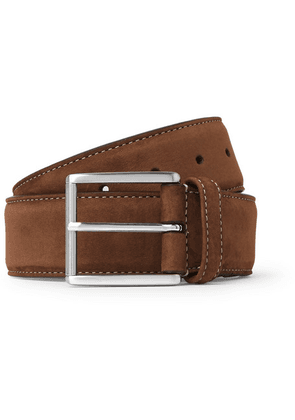 Anderson's - 4cm Brown Suede Belt - Brown