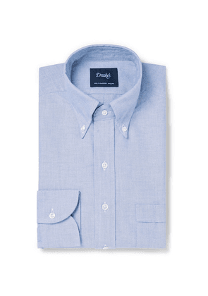 Drake's - Light-blue Easyday Slim-fit Button-down Collar Cotton Oxford Shirt - Light blue