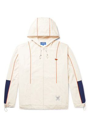 Maison Kitsuné - + Ader Error Oversized Colour-block Shell Hooded Jacket - Neutral