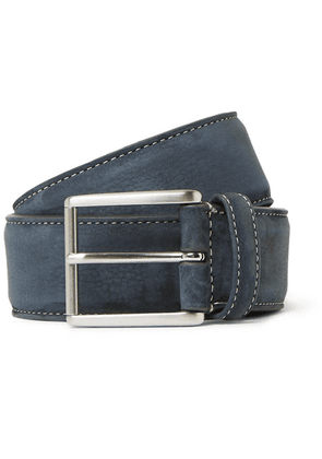 Anderson's - 4cm Grey Nubuck Belt - Gray