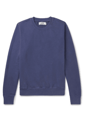 Freemans Sporting Club - Garment-dyed Loopback Cotton-jersey Sweatshirt - Navy